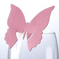 Hot Pink Butterfly Place Cards (10)